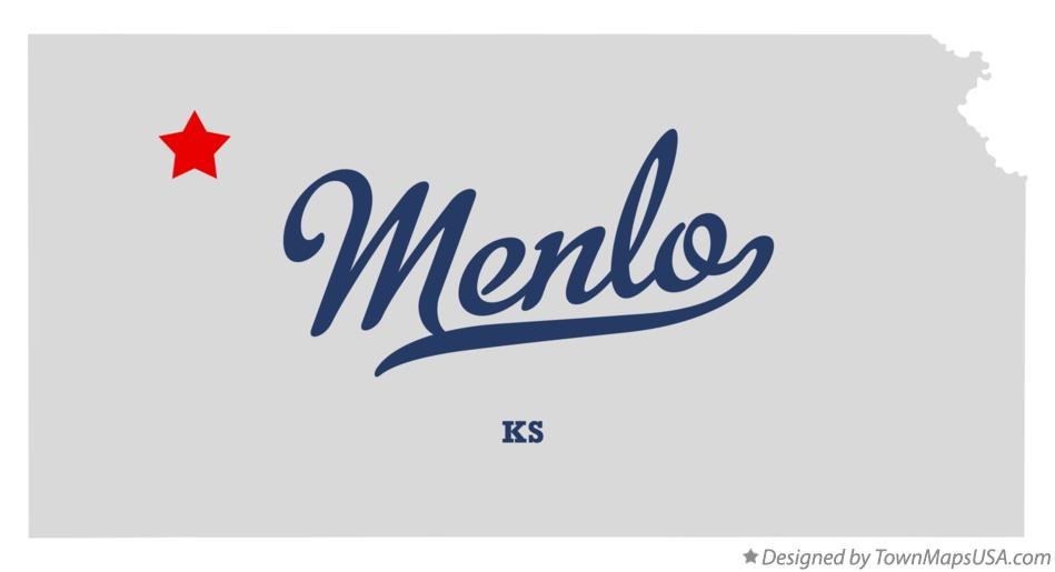 Map of Menlo Kansas KS