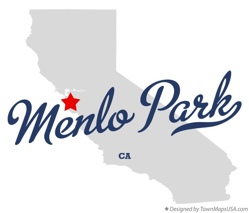 Menlo Park California Map Map of Menlo Park, CA, California