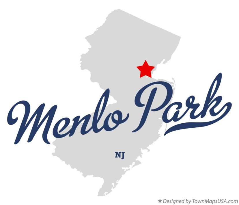 Map of Menlo Park New Jersey NJ