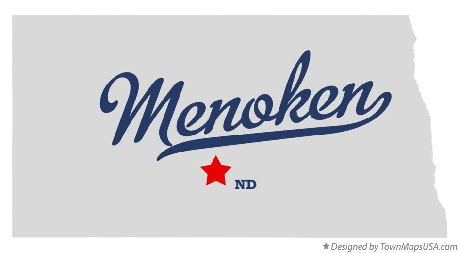 Map of Menoken North Dakota ND