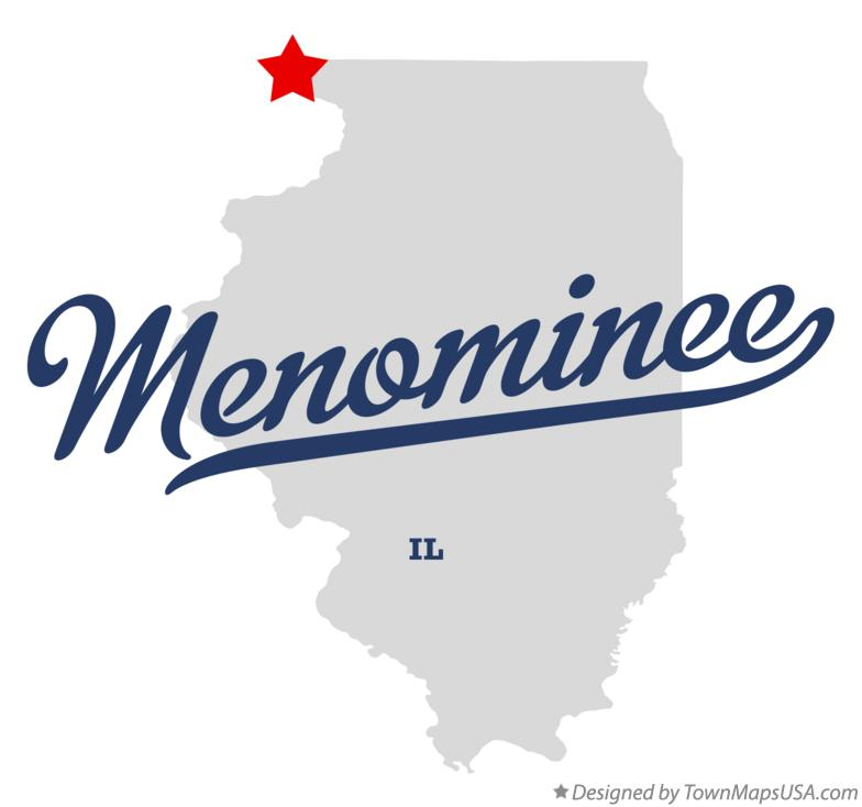 Map of Menominee Illinois IL