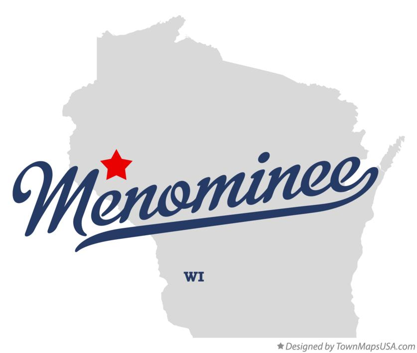 Map of Menominee Wisconsin WI