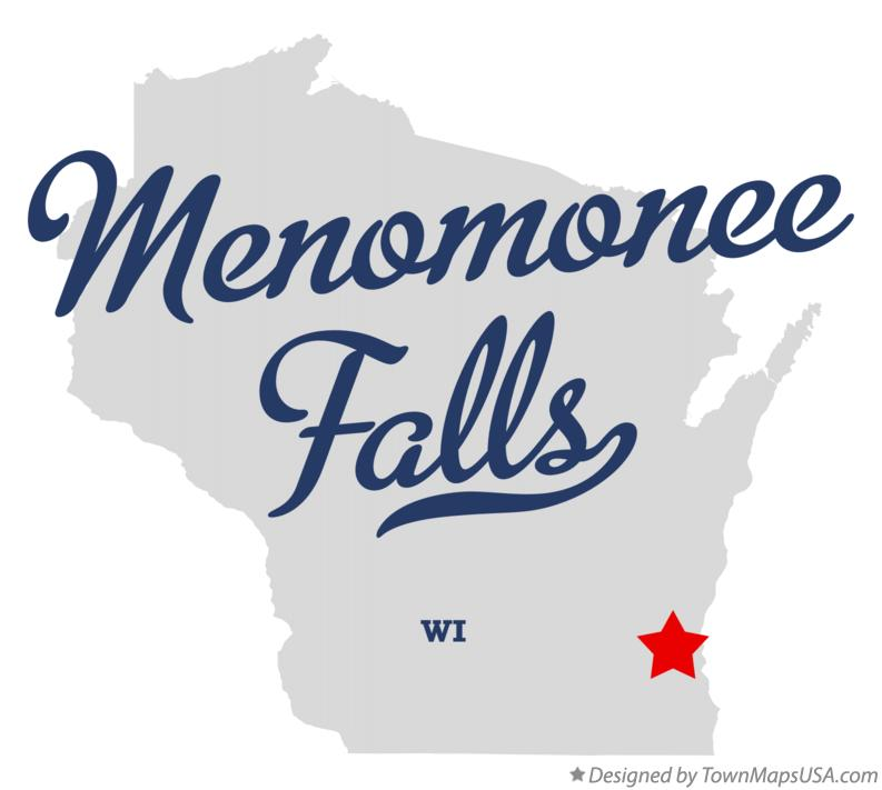 Map of Menomonee Falls Wisconsin WI