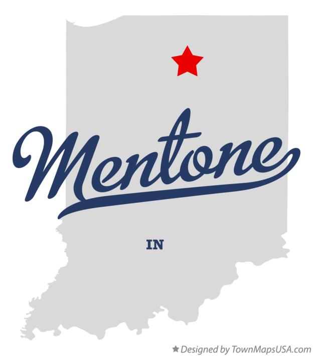 Map of Mentone Indiana IN