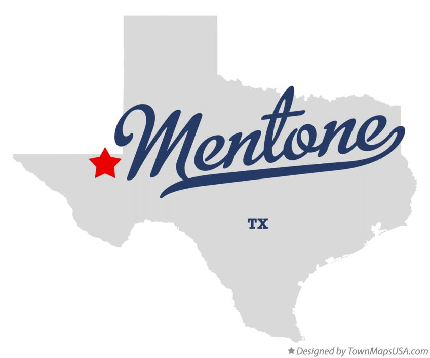 Map of Mentone Texas TX