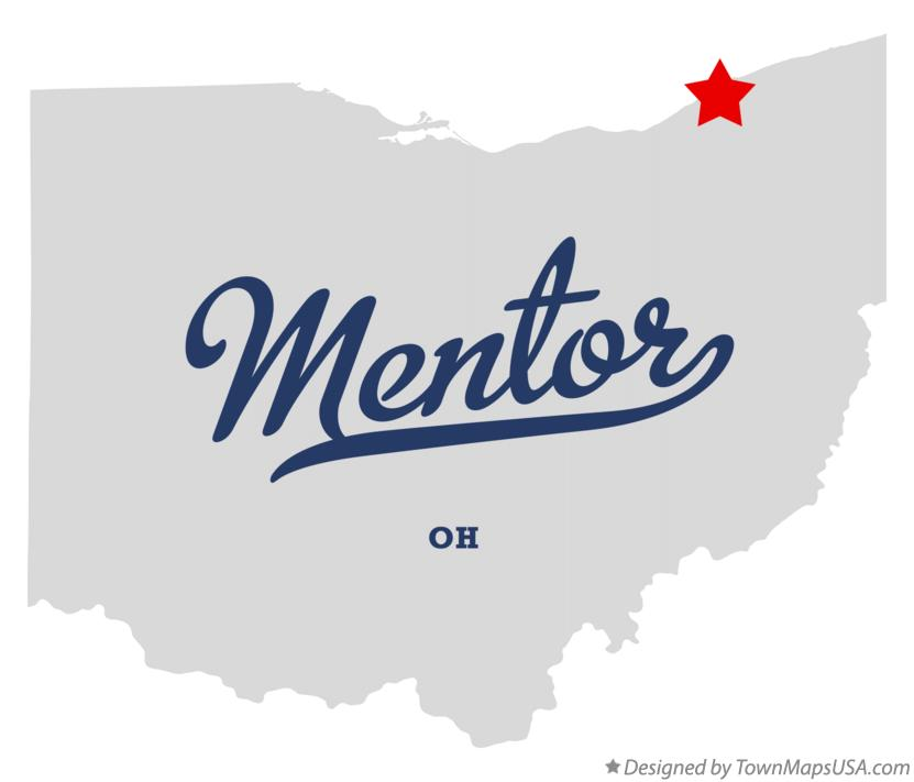 Map of Mentor Ohio OH