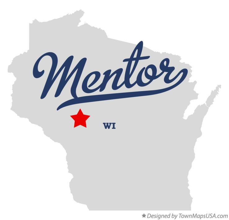 Map of Mentor Wisconsin WI