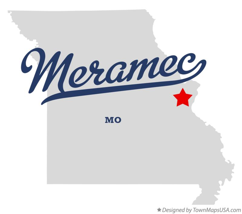 Map of Meramec Missouri MO