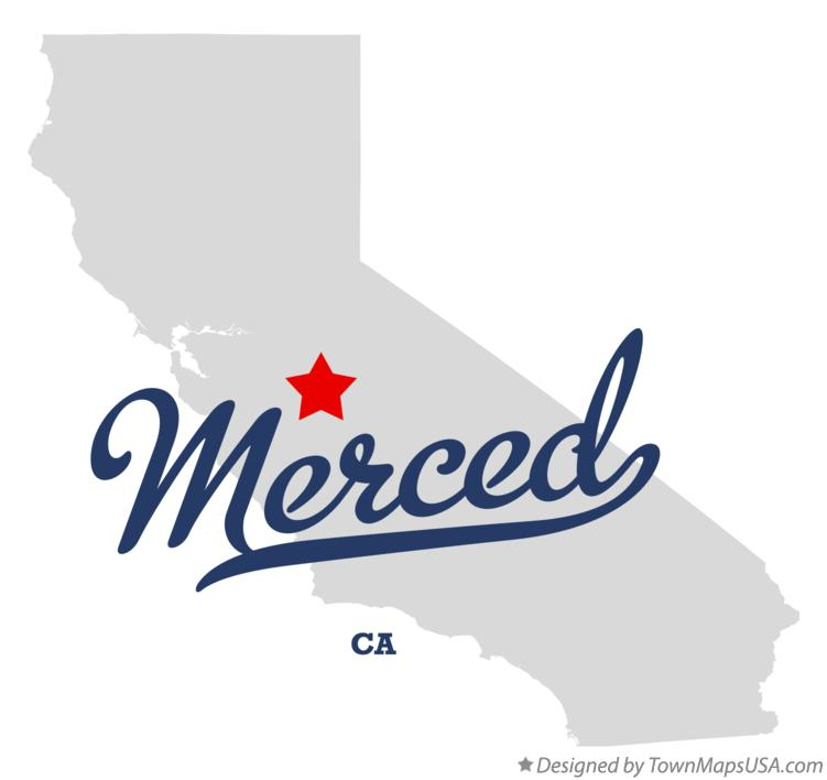 Map Of Merced Ca California