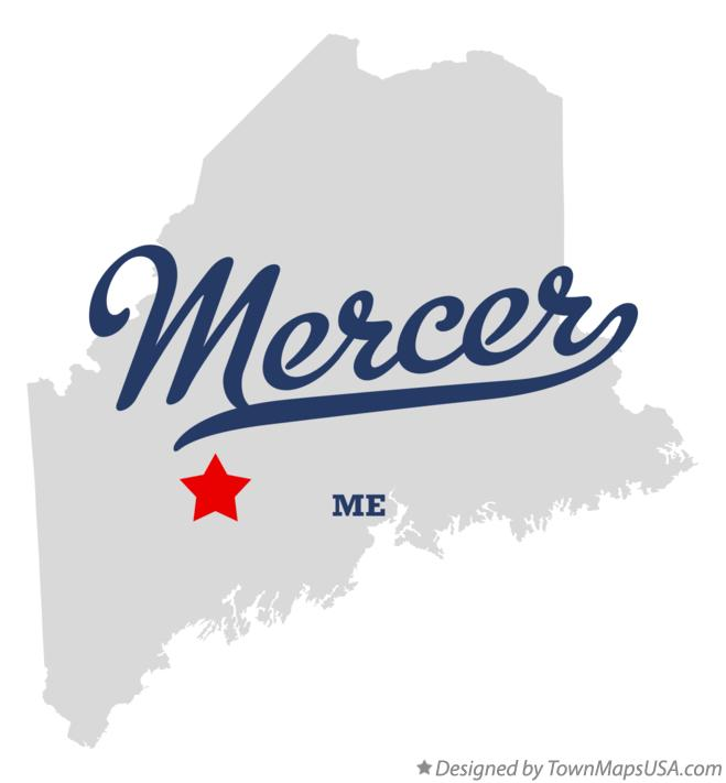 Map of Mercer Maine ME