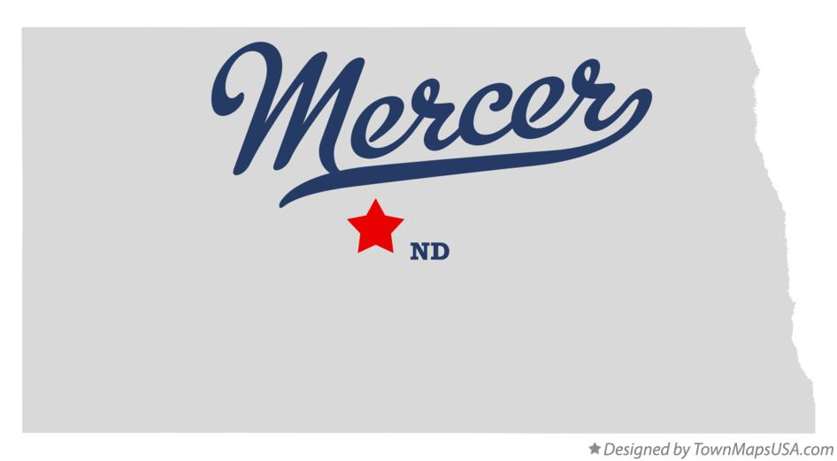 Map of Mercer North Dakota ND