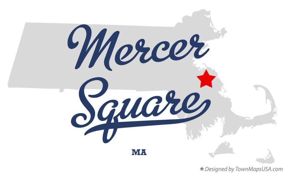 Map of Mercer Square Massachusetts MA