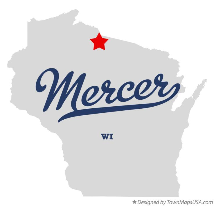 Map of Mercer Wisconsin WI