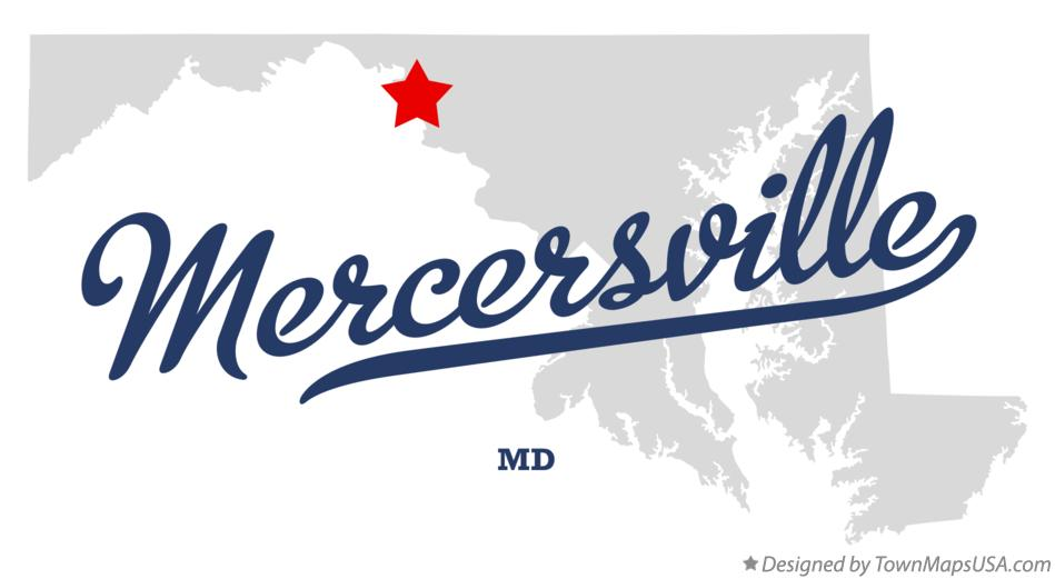Map of Mercersville Maryland MD