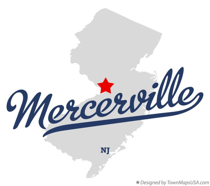 Map of Mercerville New Jersey NJ
