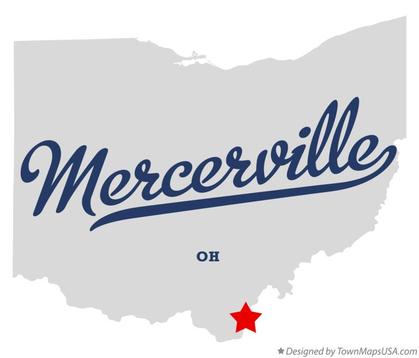 Map of Mercerville Ohio OH