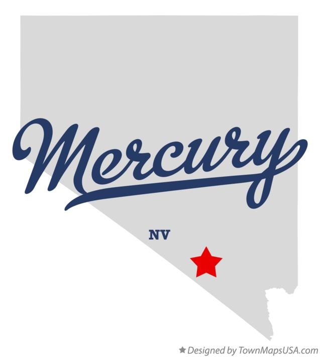 Map of Mercury Nevada NV