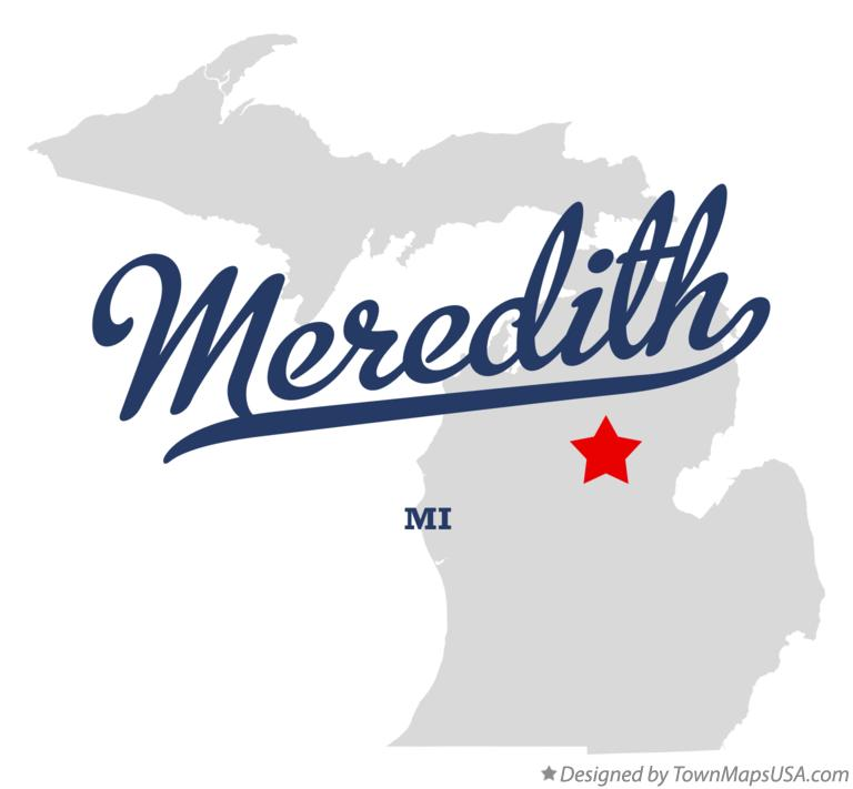 Map of Meredith Michigan MI
