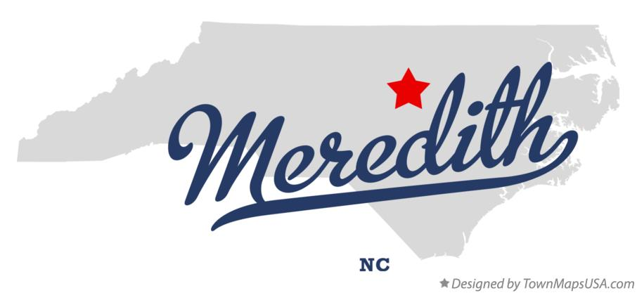 Map of Meredith North Carolina NC
