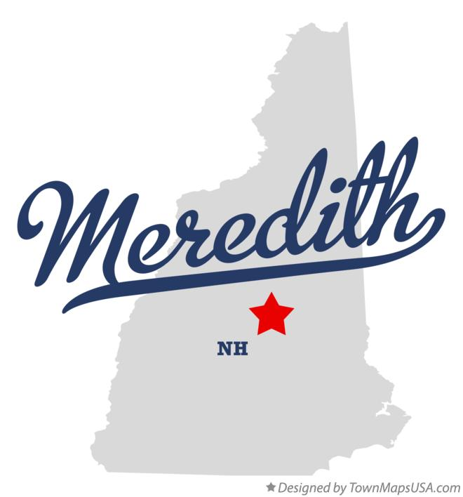 Map of Meredith New Hampshire NH