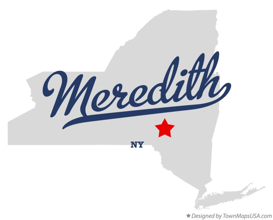 Map of Meredith New York NY