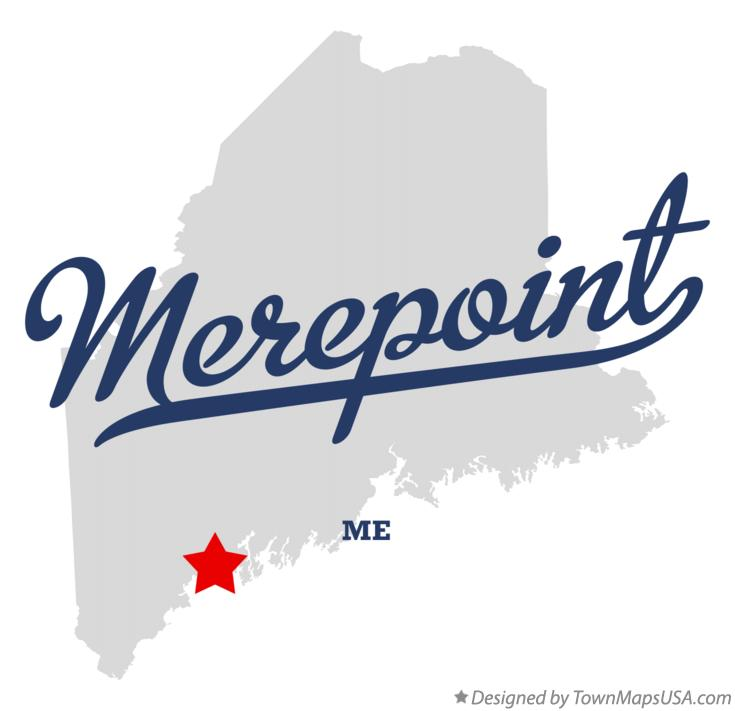 Map of Merepoint Maine ME