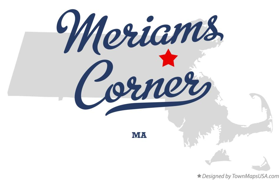 Map of Meriams Corner Massachusetts MA