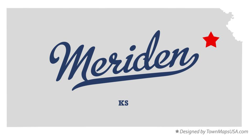 Map of Meriden Kansas KS