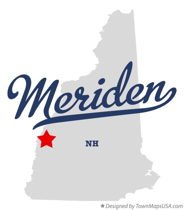 Map of Meriden New Hampshire NH