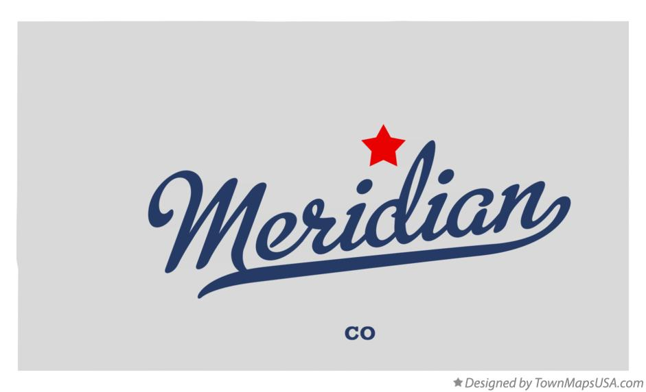 Map of Meridian Colorado CO