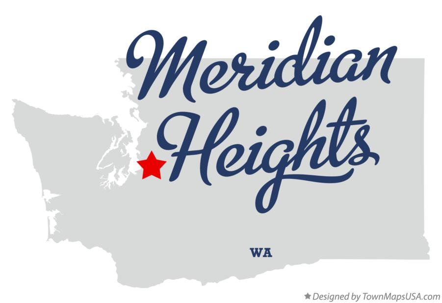 Map of Meridian Heights Washington WA