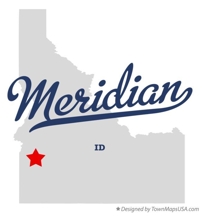 Map of Meridian, ID, Idaho