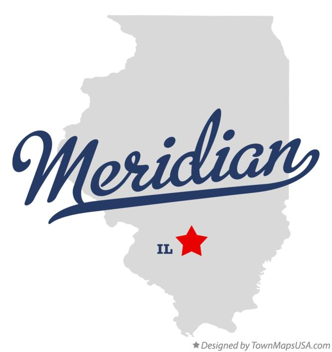 Map of Meridian Illinois IL