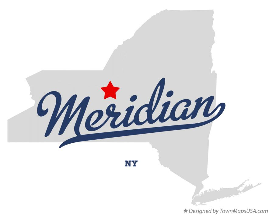 Map of Meridian New York NY