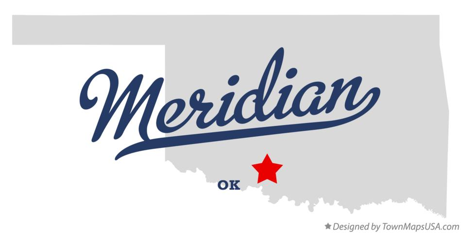 Map of Meridian Oklahoma OK
