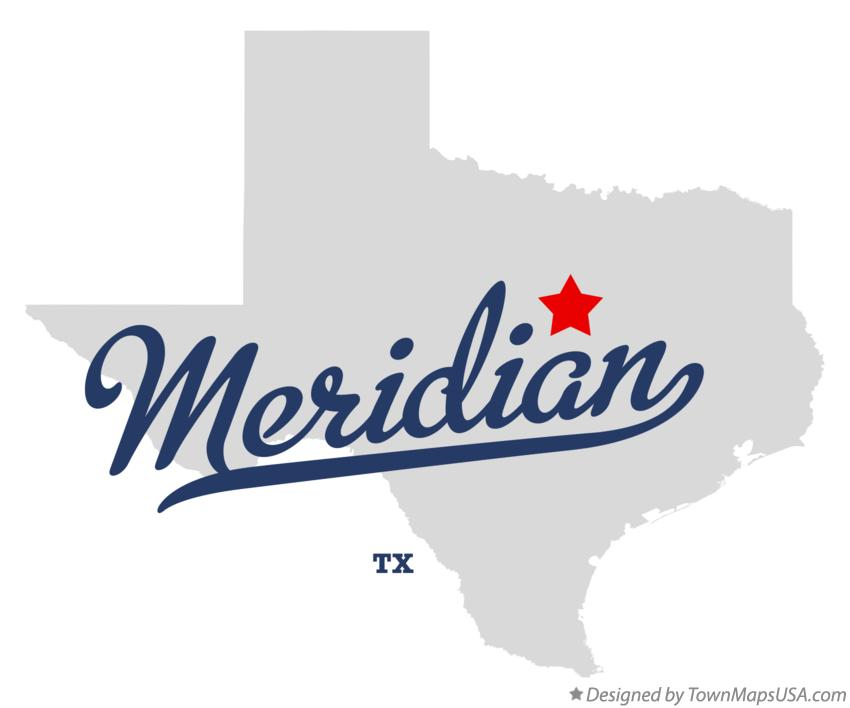 Map of Meridian Texas TX