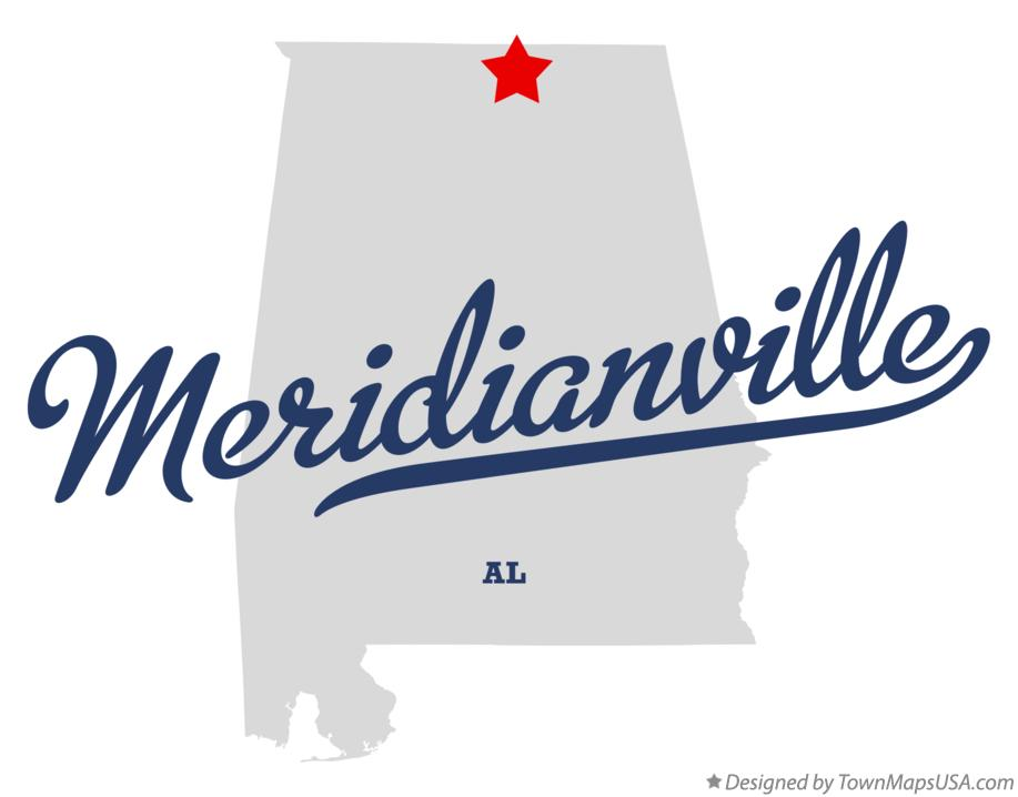 Map of Meridianville Alabama AL