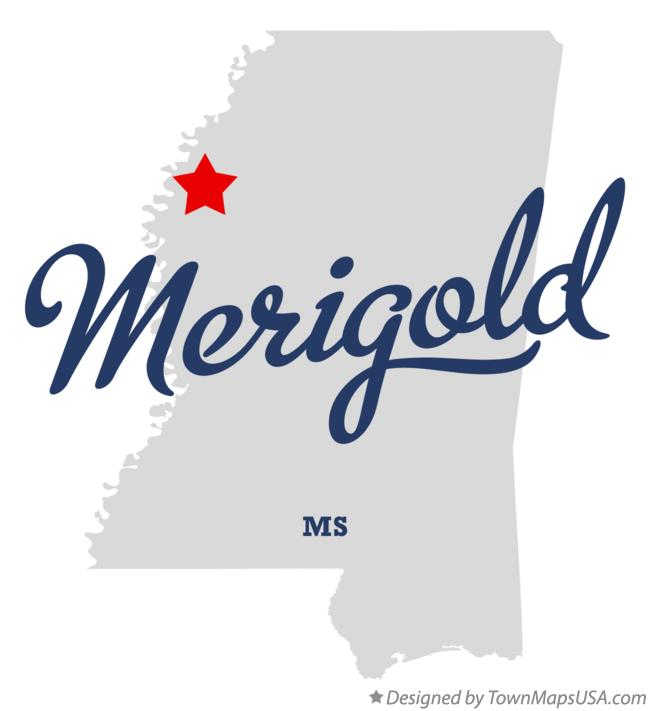 Map of Merigold Mississippi MS