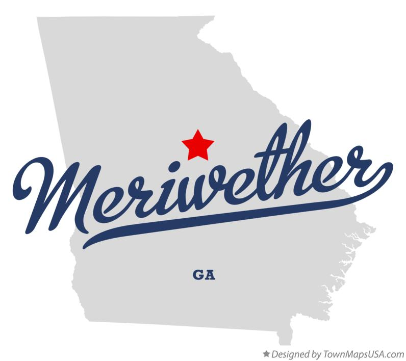 Map of Meriwether Georgia GA