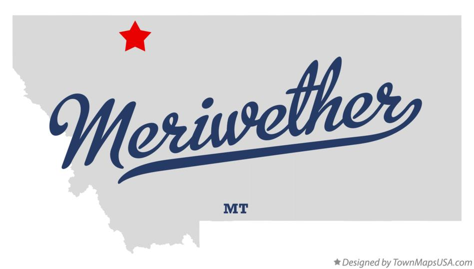 Map of Meriwether Montana MT
