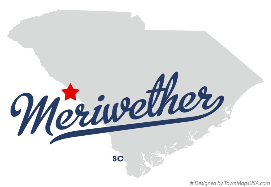 Map of Meriwether South Carolina SC