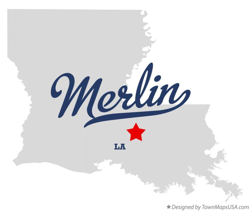 Map of Merlin Louisiana LA