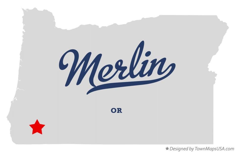 Map of Merlin Oregon OR