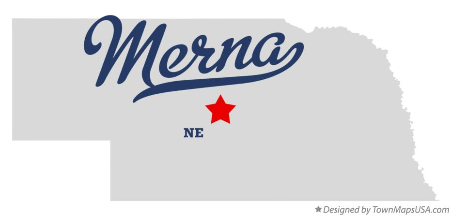 Map of Merna Nebraska NE