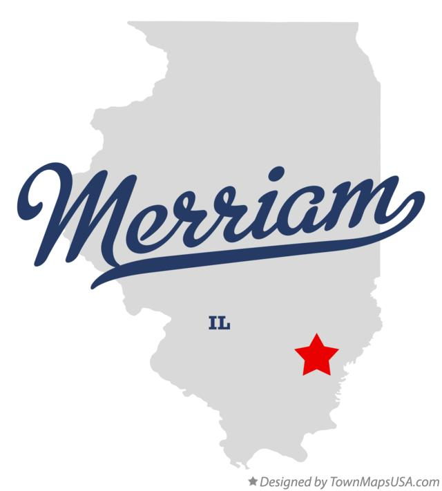 Map of Merriam Illinois IL