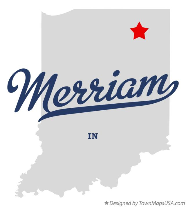 Map of Merriam Indiana IN