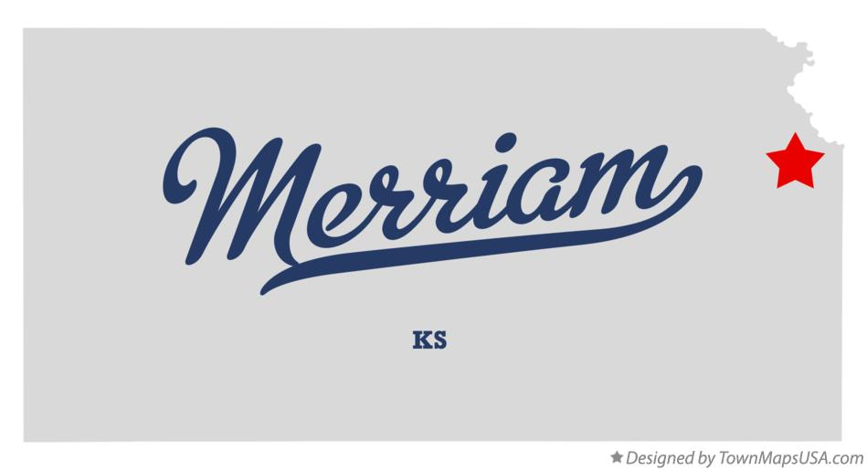 Map of Merriam Kansas KS