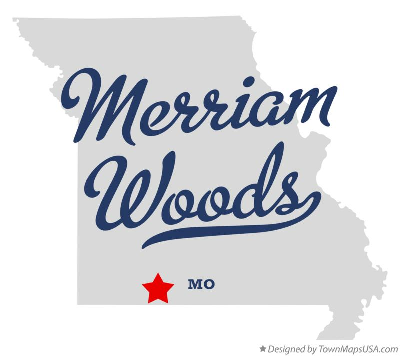 Map of Merriam Woods Missouri MO