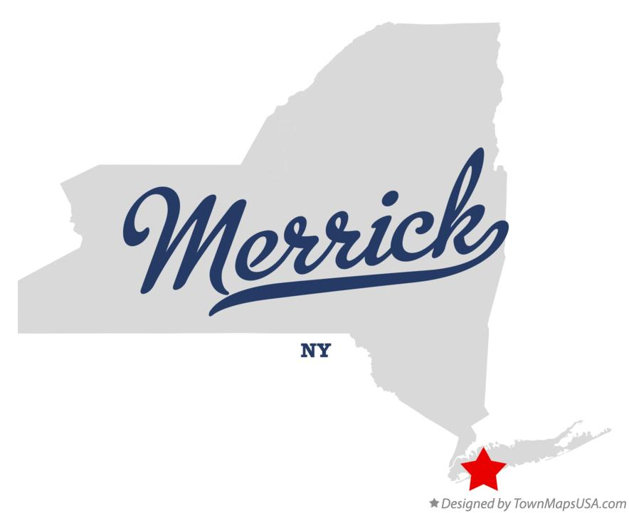 Map of Merrick New York NY