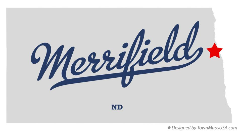 Map of Merrifield North Dakota ND